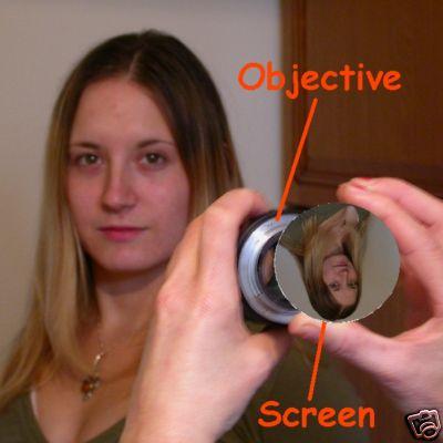 Schermo di messa a fuoco HD in vetro ottico Ø 58 mm