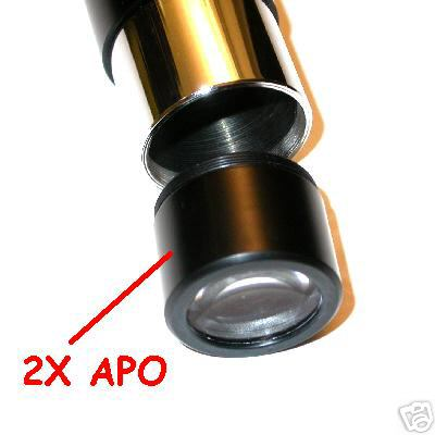Barlow Apocromatica 2 X per filetto oculare ø 31.8