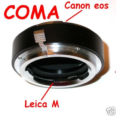 CANON eos adattatore per obiettivo LEICA M fuoco macro raccordo adapter