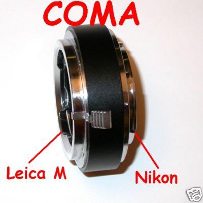 NIKON adattatore a obiettivo baionetta LEICA M fuoco macro , raccordo adapter