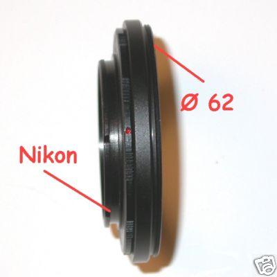 Anello inversione ottica per Nikon Ø 62 mm MACRO