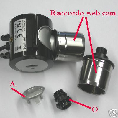 webcam adaptal web cam per Philips SPC900NC raccordo adattatore per Pc camera
