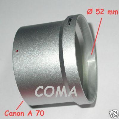 Canon A570 A590 adattatore per lente filtro accessori con Ø 52 mm raccordo