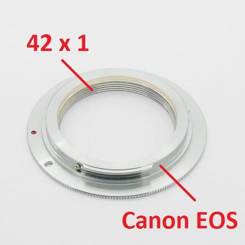 Canon EOS  adattatore obiettivo lens vite 42x1 M42 M 42 Raccordo adapter ring EF