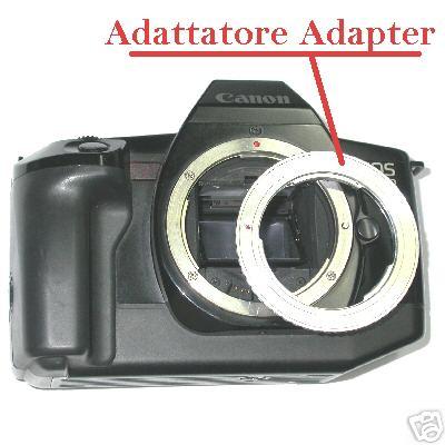 Canon EOS adattatore  per ottiche PENTAX K Raccordo obiettivo adapter ring ef