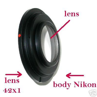 Nikon anello adattatore per obiettivo vite M42 M 42 ( 42x1 )