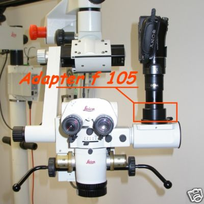 TV Objective f 105mm per pipetta LEICA rif. 1044532 6 microscopio