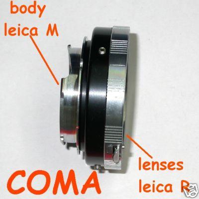 Leica M Voigtlander Bessa adattatore a obiettivo Leica R raccordo adapter lens