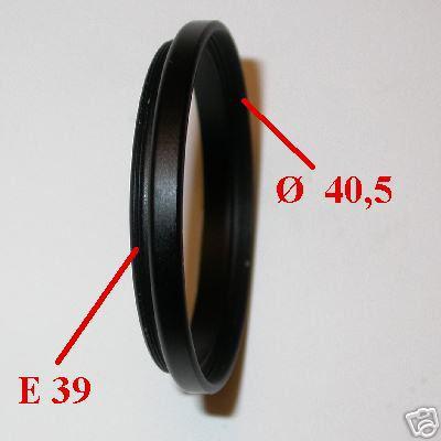 LEICA anello riduzione filtri E39 E 39  a filtro 40,5 mm ADAPTER FILTER