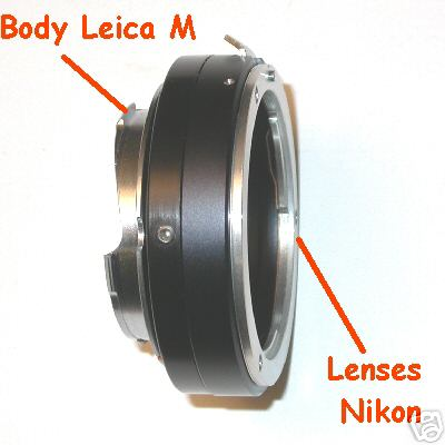 Leica M Voigtlander Bessa adattatore a obiettivo NIKON raccordo adapter lens