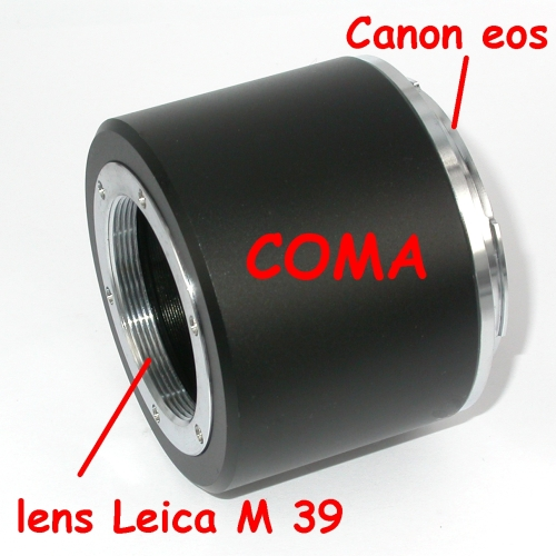 CANON eos Adattatore per obiettivo vite LEICA M39 39x1 fuoco macro , raccordo