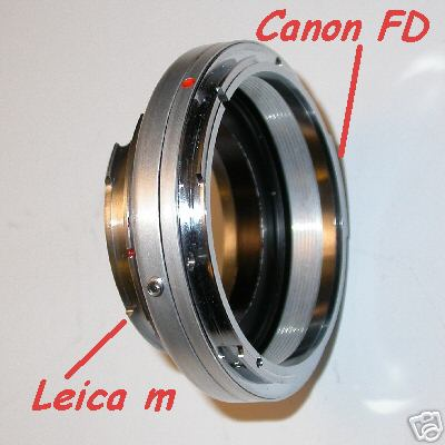 Leica M Voigtlander Bessa adattatore a lens Canon FD raccordo adattatore