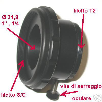 Visual Back da 2`` per telescopio S/C innesto Meade Celestron Portaoculare