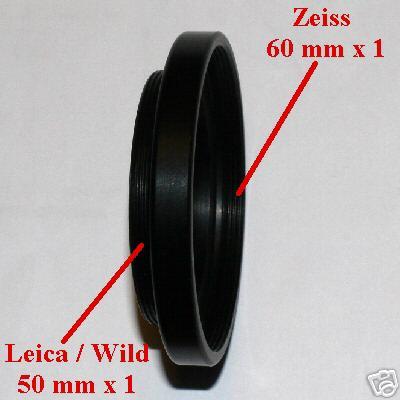 Leica Wild stereo microscopio anello raccordo adattatore per ottiche Zeiss
