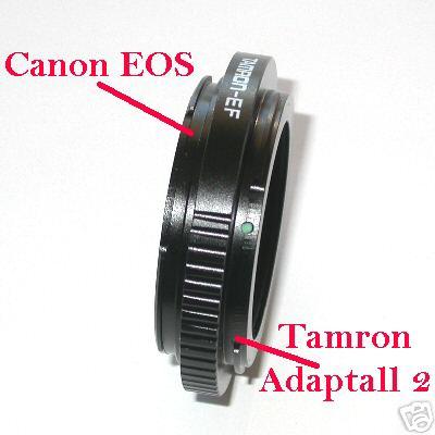 Tamron Adaptall 2 per fotocamere srl srld  Canon eos anello adattatore raccordo