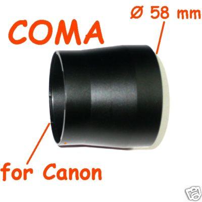 Canon G7 - G9 ADATTATORE PER FILTRI E ACCESSORI ø 58 FOR