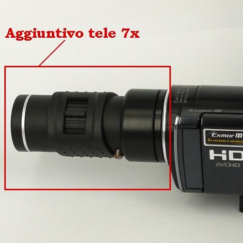 Aggiuntivo tele 7X economico per fotocamere e videocamere