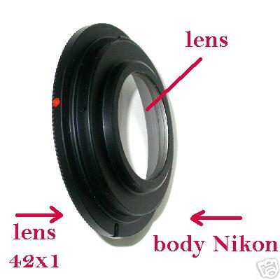 Nikon anello adattatore per obiettivo vite M42 M 42 con base chiusura diaframmi