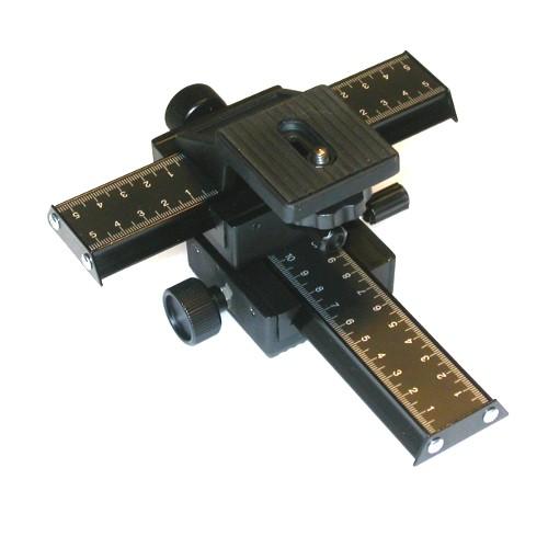 Slitta di messa a fuoco micrometrica assi X / Z MACRO supporto