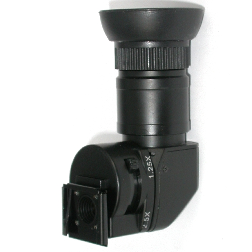 MIRINO ANGOLARE 1,25 / 2,5 X universale Canon Nikon Pentax Sony Leica ...