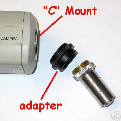 Raccordo telecamera a obiettivi RMS adapter for camera C mount