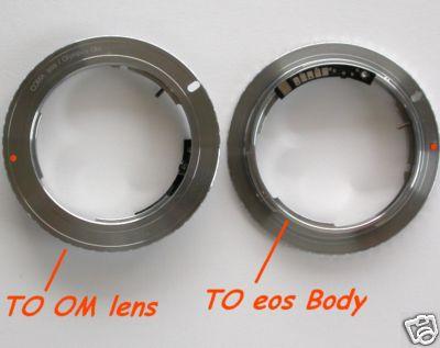 Canon EOS adattatore con MICROCHIP per ottiche Olympus OM Raccordo Adapter