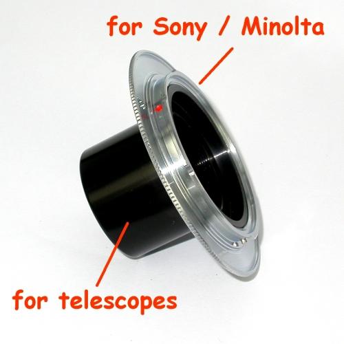 Sony / Minolta AF RACCORDO diretto 31,8 ( 1,25`` ) per FOTO TELESCOPIO telescope