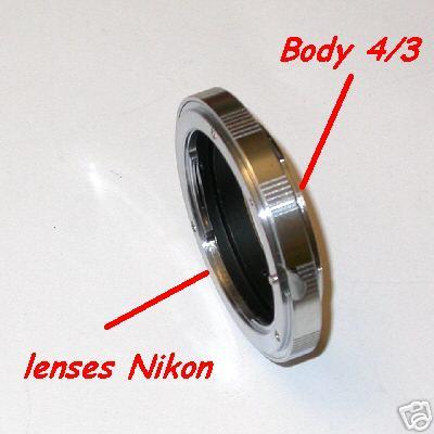4/3 Baionetta Adattatore lens Nikon a corpo Olympus E / Lumix quattro terzi