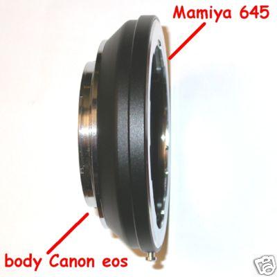 Canon EOS adattatore per obiettivo Mamiya 645  Adapter Raccordo obiettivo
