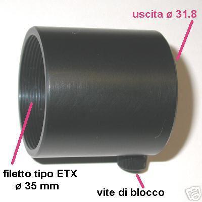 ETX Adaptal Ø 31.8 adattatore 1,25 `` Retro telescopio - Meade , Celestron ecc