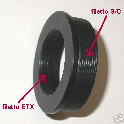 ETX Adaptal filetto S/C Ø 2 ``  Meade Celestron ecc. raccordo adattatore