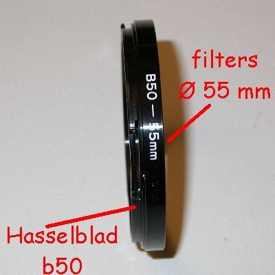 HASSELBLAD baionet b50 Ø 55mm Anello riduzione filtri raccordo adattatore