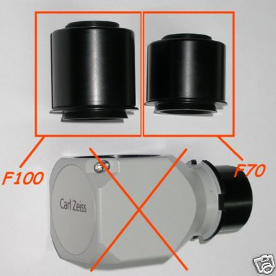 Carl Zeiss Terminale ottico f 100mm per pipetta obiettivo TV