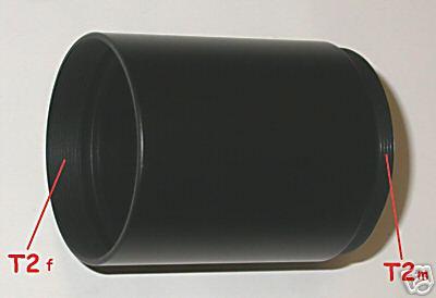 TUBO DI PROLUNGA T2 / EXTENSION TUBE T2  40 / 45 / 50 /  55 / 60  mm