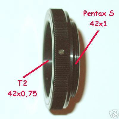 M 42 M42 ( 42x1 ) anello raccordo T2 adapter ring T 2  adattatore