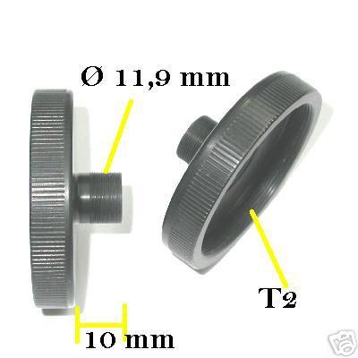 webcam adattatore a T2 femmina / adapter webcam T2 telecamera pc telescopio