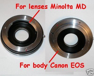 Canon eos anello adattatore a obiettivo Minolta MD-MC raccordo adapter lens ring