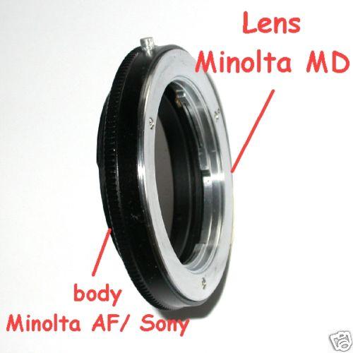 Sony Minolta AF anello adattatore a obiettivo Minolta MD versione MACRO