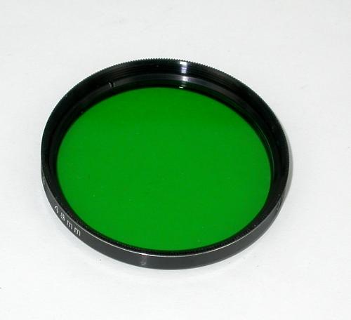 Filtro Verde G2  per Astonomia su telescopio diametro 2 `` pollici , ( 48 mm )