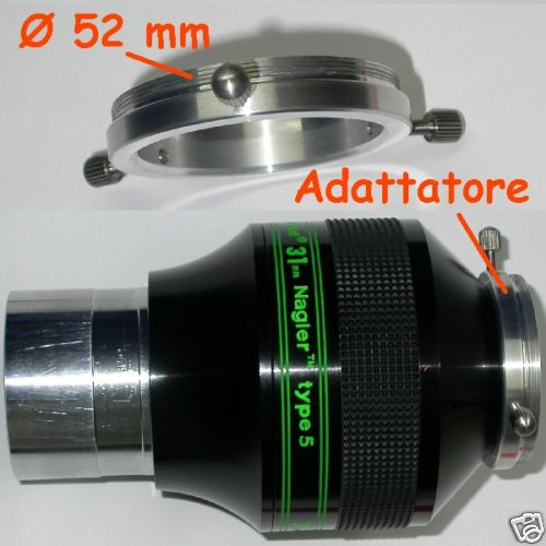 Nagler adattatore per oculare a fotocamere con filetto Ø 52 mm photo adapter