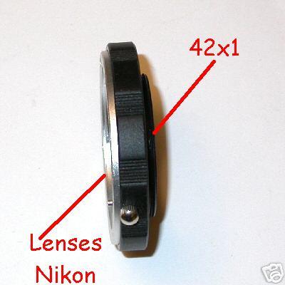 M42 vite adattatore macro  per ottiche Nikon Raccordo Adapter