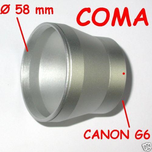 Canon G6 G 6 ADATTATORE PER FILTRI E ACCESSORI ø 58 FOR