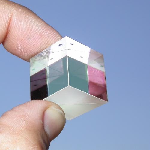 beam splitter beamsplitter image splitter cube prism prisma 25,4x25,4  25,4 mm