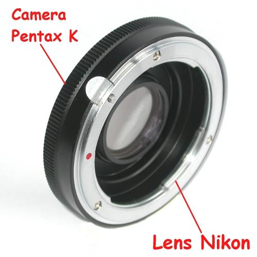 Pentax K anello raccordo a lens Nikon adattatore adapter