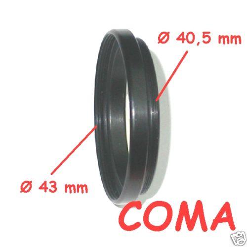 riduzione filtri Ø 40.5 / 43 anello di raccordo ADAPTER FILTER