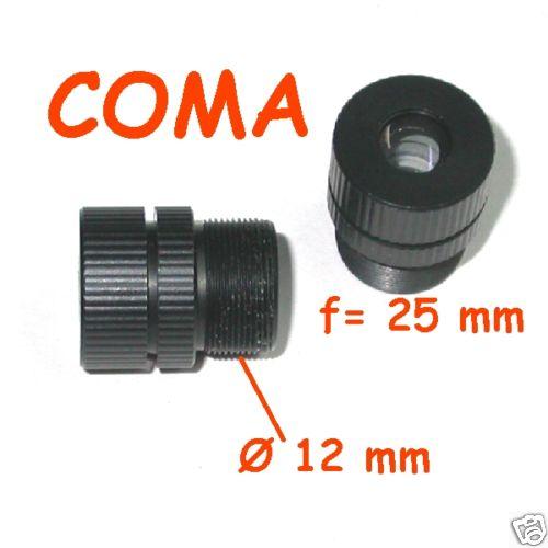 Obiettivo CCTV telecamera passo S mount focale 25 mm ( tele )