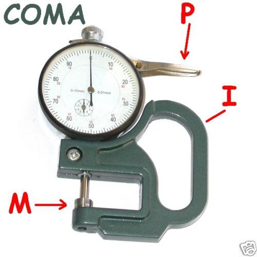 SPESSIMETRO RAPIDO MISURATORE SPESSORE 0-10x10x0.01mm
