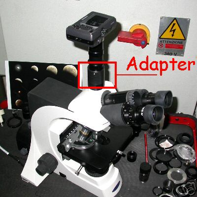 Raccordo C mount per microscopio biologico OPTIKCA