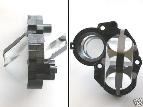 Prisma raddrizzatore porro vetro ottico con montatura