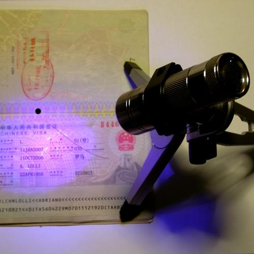 Illuminatore ultravioletto UV pass per fotocamera con nightshot o modificata